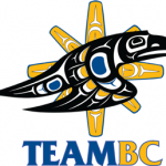 """Team BC - Logo Design Competition Winner """"The Soaring Raven represents the strength and determination of the Team BC athletes, coaches and all nations within British Columbia. The Sun provides connection to our ancestors and is the basis of all light and nourishment on this earth. The Raven flying, swooping and soaring parallels the plight of the athlete. With great confidence they show that new heights are possible by transforming and adapting to the surroundings of the unknown."""""""