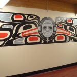 Mural painted in the Elders Room of the Victoria Native Friendship Centre